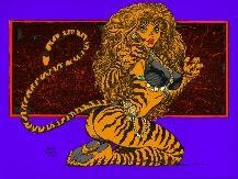 Art Adams Tigra Wallpaper